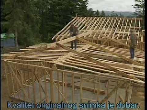 Градња дрвене куће 3 - кровна конструкција