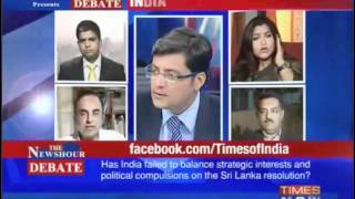 Dr Subramanian Swamy vs Actress Kushboo live debate over Tamil People in Sri Lanka issue