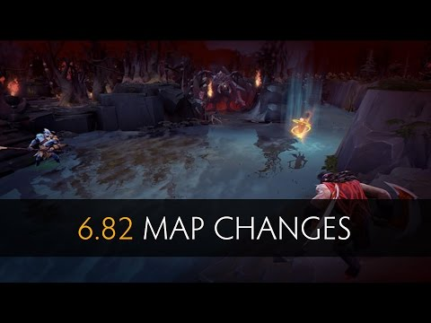 Dota 2 - 6.82 Map Changes (Old vs New)