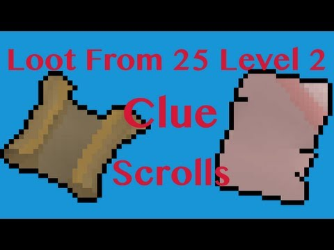 Runescape 2007: Rewards From 25 Level 2 Clue Scrolls