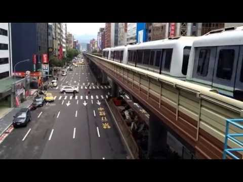Taipei traffic as seen from the MRT station