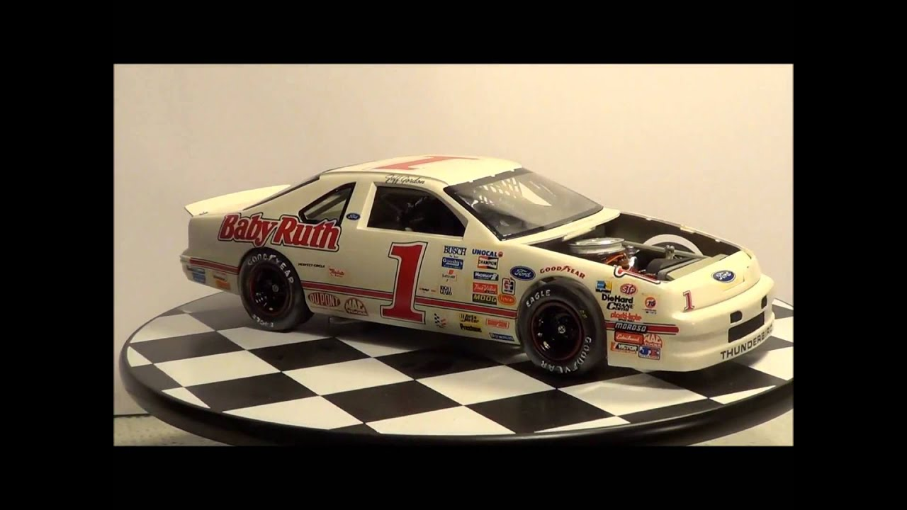 Monogram 39 s jeff gordon 1 bgn baby ruth nascar ford thunderbird model build youtube