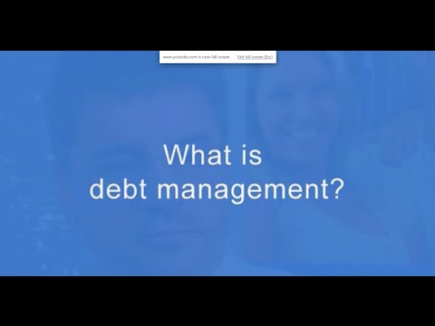 What is debt management? Anthony Klatt