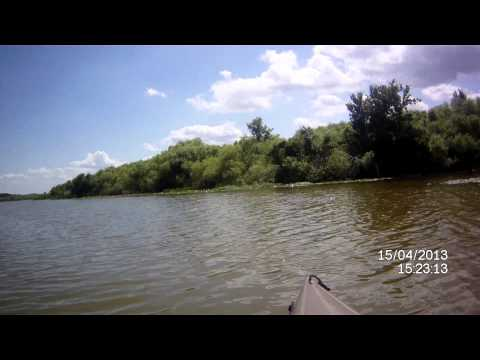 2013-04-15, Fishing Lake Griffin at Pine Island