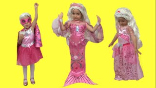 Barbie Surprise Unboxing + Giant Doll + Princess, Mermaid and Superhero Dolls Transformations!