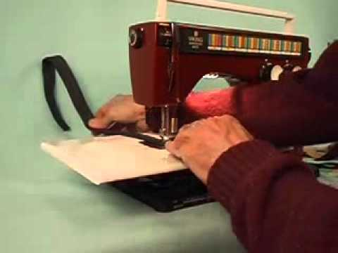 Sewing Heavy Duty  Web Strap and using a Clearance Plate.