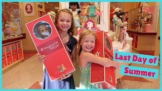 Last Day of Summer at the American Girl Store!