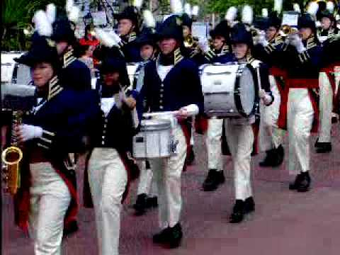 2008 / 2009 William Henry Harrison High School Militia Band @ Disney Magic Kingdom Parade