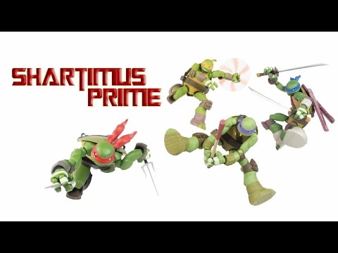 Revoltech TMNT Nickelodeon Teenage Mutant Ninja Turtles Cartoon Import Action Figure Review Set