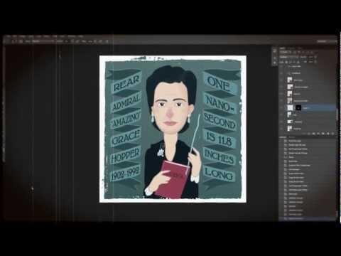Amazing Grace Hopper: Illustration Timelapse (HD)