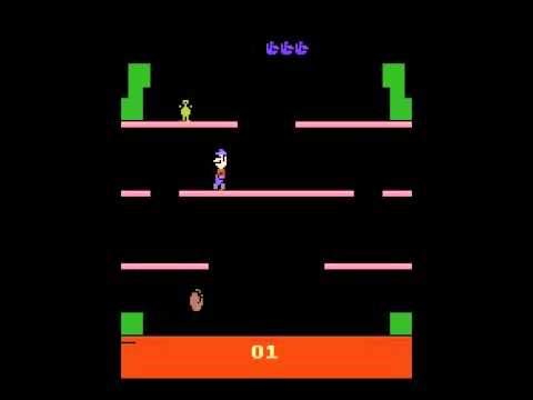 Mario Bros. - Mario Bros. trying it out ATARI - User video