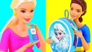 6 DIY Barbie Miniatures ~ Doll Phone, Backpack, Dollhouse, etc.