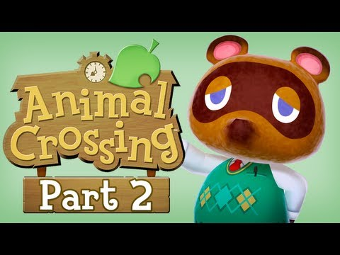 Let's Play Animal Crossing New Leaf - Part 2 (Train Traveling)