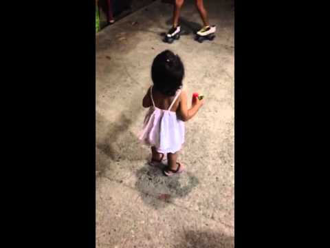 Little girl loves to dance - Costa Rica