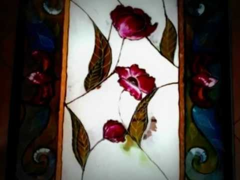 Falso vitraux con detalles grabados con torno youtube for Como hacer cuadros con espejos