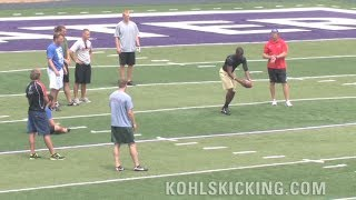 Longest Punt | NFL football punters see who can kick the farthest