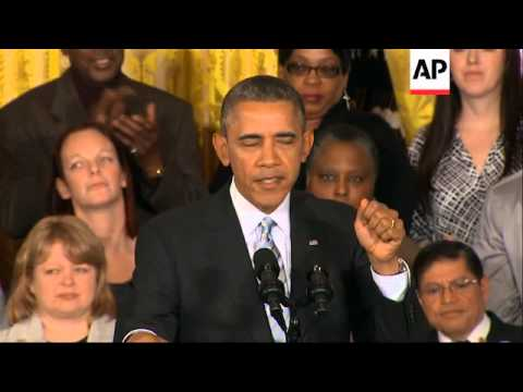 President Barack Obama has increased the minimum wage for a few hundred thousand federal contractors