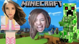 Pokimane Plays Minecraft For The First Time