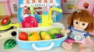 Baby doll cooking kitchen bag and Baby Doli fruit food toys - ToyPudding