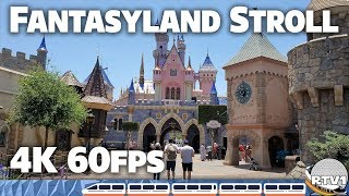 Disneyland Fantasyland - Relaxing Stroll & Tour - 4K 60fps - 2019