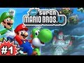 New Super Mario Bros. U 100% Multiplayer Walkthrough - Part 1