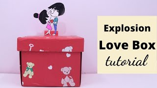 #ValentinesDay #LoveBox #GiftBox How to Make Gift Box for Valentines Day | Aloha Crafts