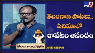 Lyricist Kandikonda speech at Telangana Devudu Movie Audio Release Event