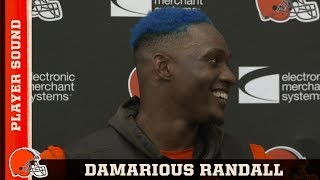Damarious Randall Had to Dye His Hair Blue After Losing a Bet | Browns Player Sound