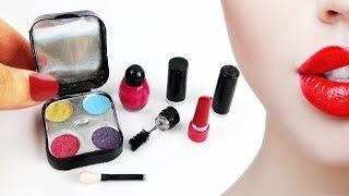 💄💋DIY 100% Real Miniature Makeup - Eye Shadow, Lipstick, Mascara, Nail Polish- [REALLY WORKS]