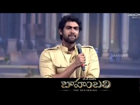 Rana Speech - Baahubali || Audio Launch Live || Prabhas, SS Rajamouli