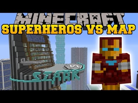 SUPERHEROES UNLIMITED MOD VS AVENGERS TOWER - Minecraft Mods Vs Maps (REPULSER & TNT!)