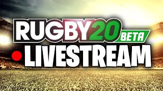 RUGBY 20 BETA FIRST TIME LIVESTREAM