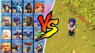 COC ALL TROOPS Vs PARTY WIZARD | CLASH OF CLANS NEW UPDATE !