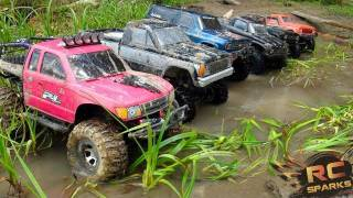 Download RC ADVENTURES -  6 Scale RC 4x4 Trucks in MUD, DIRT & a Forest! Group Trail Gathering  (GTG) 3Gp Mp4