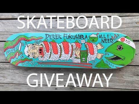 All I Need skateboard giveaway #2 w/ Derek Fukuhara