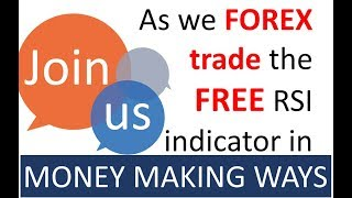 Join Money making Forex Traders who simultaneously use the Free RSI for trending & sideways markets