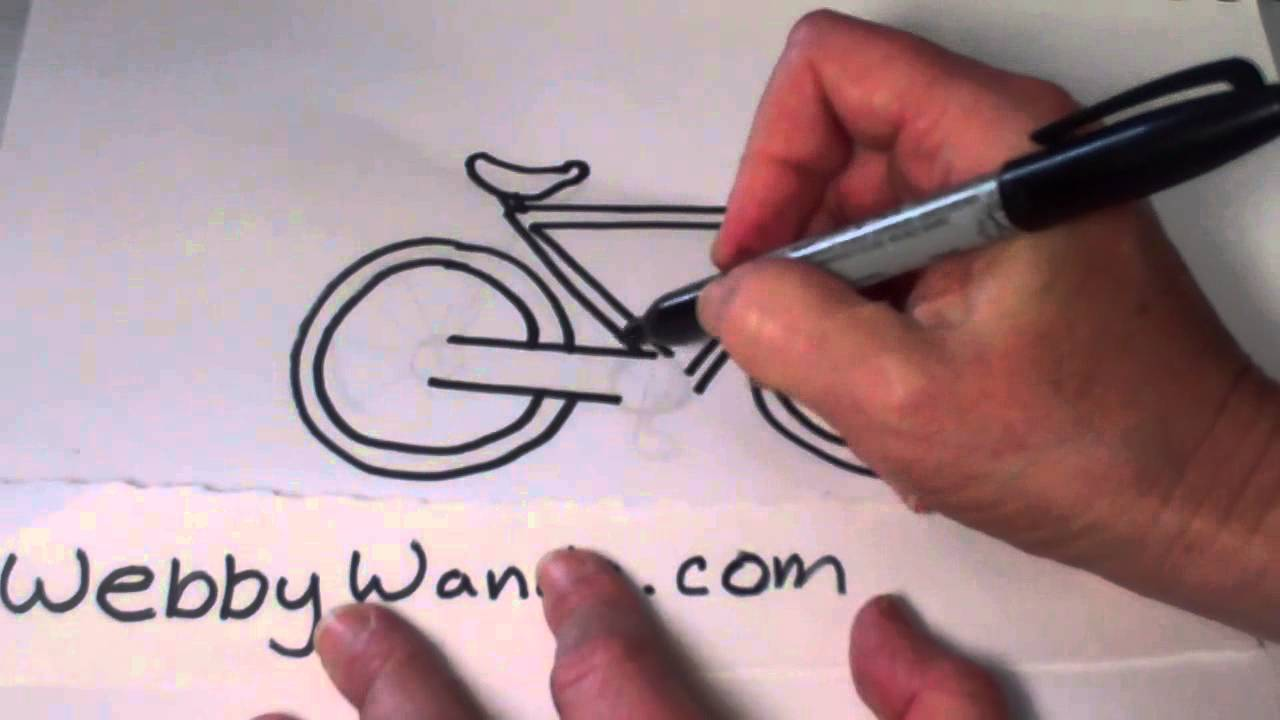 Bicycle Kids Drawing Webby Wanda How to Draw a