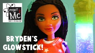 Project MC2 Bryden Bandwith Deluxe Doll with Glow Stick Necklace Experiment!