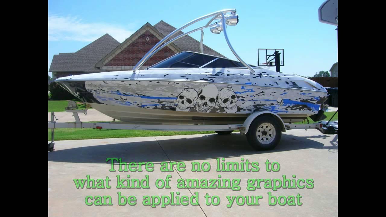 Custom Boat Wraps In Oklahoma City Alphagraffix Youtube