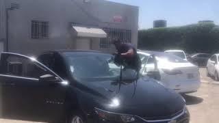California Auto Glass Repair | 2018 Chevy Malibu Front Windshield Removal
