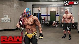 WWE 2K18 Story: Rey Mysterio Returns Raw 2018 ft. Brock Lesnar, Roman Reigns