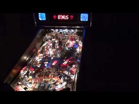 Metallica Pinball Machine video in the Dark