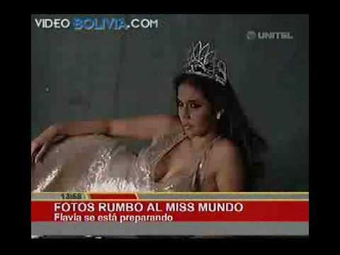 Miss Bolivia Flavia Foianini VIVA BOLIVIA CARAJO!