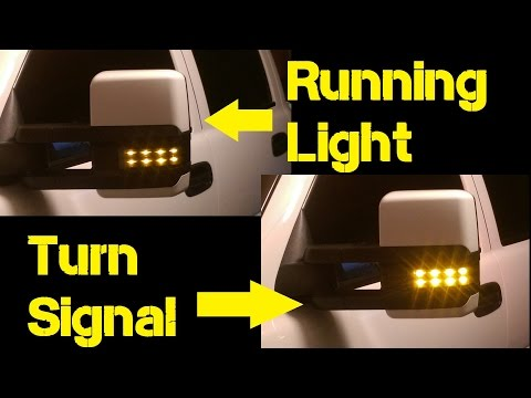 How to: Dual Function LED tow mirrors