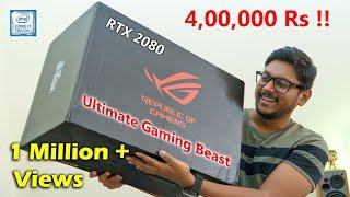 4,00,000 Rs ULTIMATE Gaming Laptop Unboxing... This is INSANE 🔥
