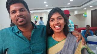 Couples testimonial about event emcee's energy level and games at the birthday party at Vadapalani C