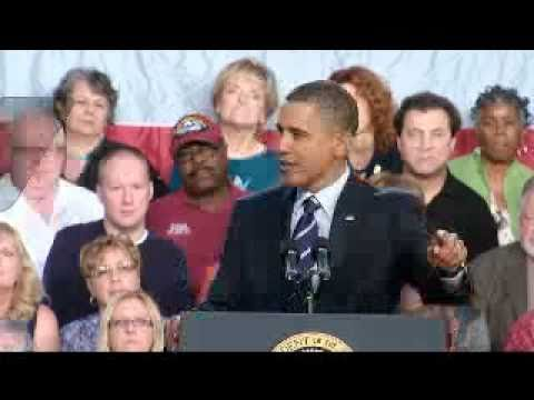 Obama:It's Still Hope Vs. Fear-Full Speech In Ohio