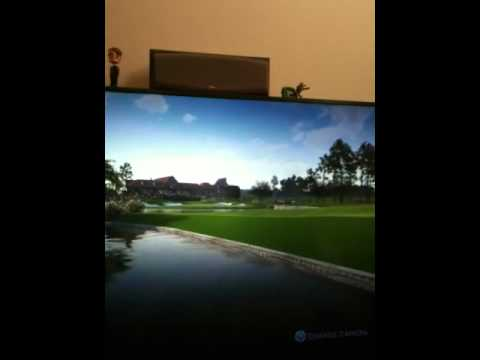 Improbable Tiger Woods 12 golf shot at Atlanta Athletic Club