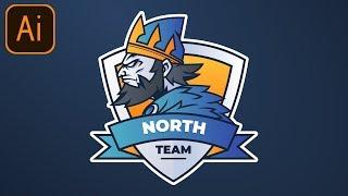 FREE Esports Gaming Logo #3 | Clan/Team/Mascot Logo | Adobe Illustrator Free Logo Templates