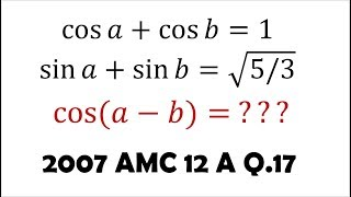 Cleverly Manipulating Trig Identities (2007 AMC 12 A Problem 17)